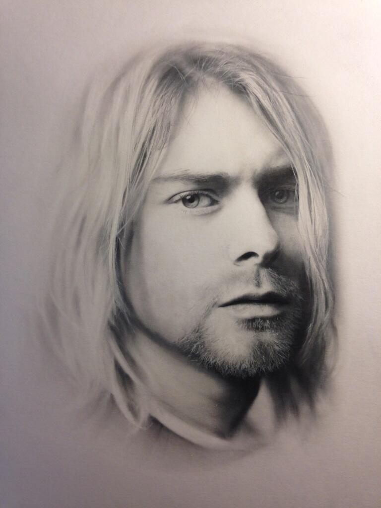 It's just an image of Sly Drawing Of Kurt Cobain