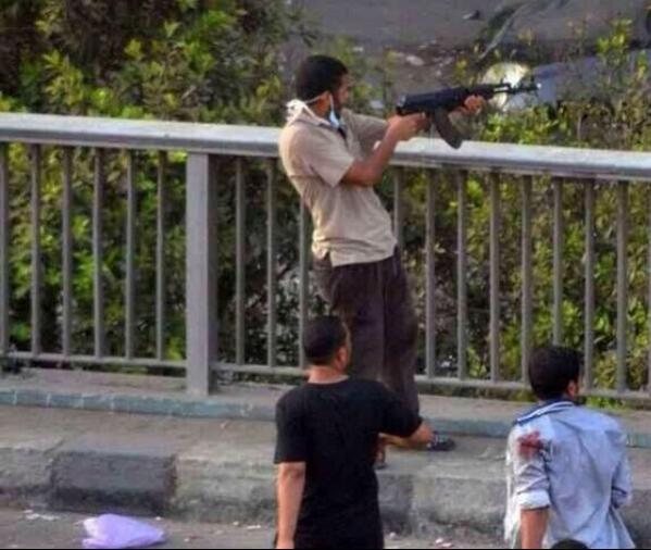 To international media: MB using AK 47 shooting civilians and police forces #mb_europe http://t.co/Z2xpiTR7Qm