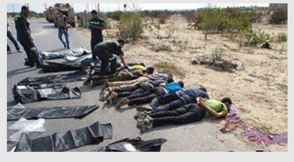 Capturing, lining up on the ground and then shooting..This is what Egypt fighting against..#mb_europe http://t.co/NEAEhXIedl