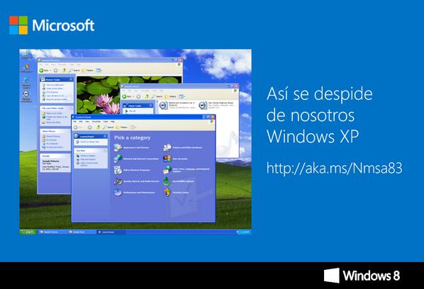 Por si no la leyeron, aquí les dejamos la carta de despedida de Windows XP http://t.co/ZsEaua5RHv http://t.co/1IeAGgJd8H