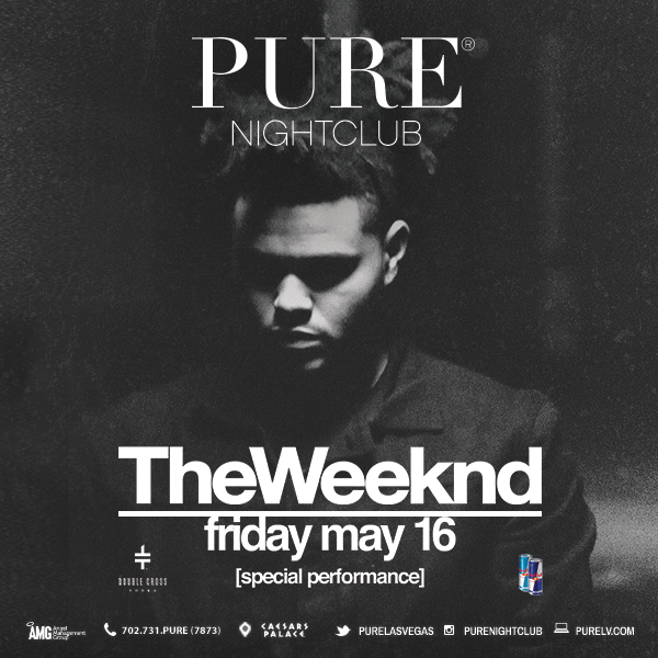 Join us as we welcome back @theweeknd at #PureNightclub on Friday, May 16th!   For more info: http://t.co/hxydMveB3P http://t.co/8CcUahohWH