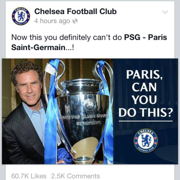 You definitely can't do this, @PSG_inside. Never! #ParisChampionsJustADream http://t.co/Teet0oh0XG