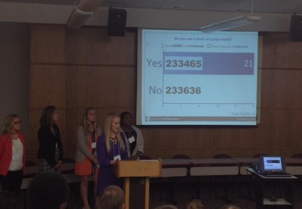 Student presenters from @StopThePop_MSU demonstrate their survey methodology in real time. #CitizenBear http://t.co/ePaUbJtPDD