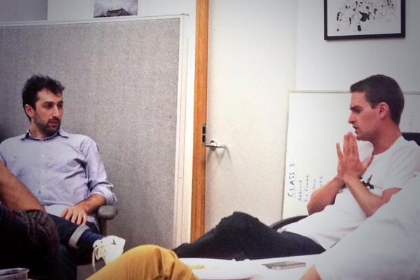 .@evanspiegel talking early days of @Snapchat to Launchpad LA founders http://t.co/Fqb3IGYE0w