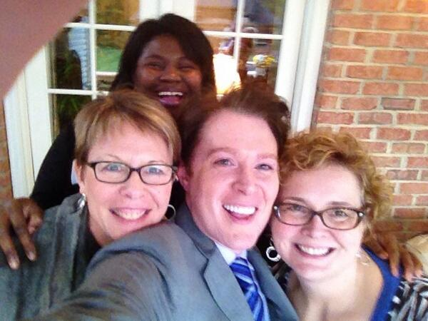 Yep, that is @AishaDew, @marytribble and me w/ @clayaiken. And hells yeah, he took pic & is running for congress. http://t.co/Lak034cYkP