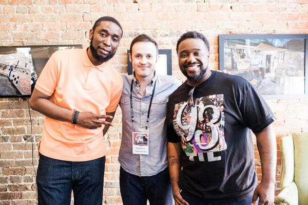 The Premiere for @TheHiphopFellow w/ @9thWonderMusic & @phontigallo I owe a lot to these fellas. http://t.co/yjhaUaU9Hv