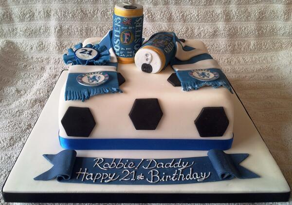 Fabulous Beverley French On Twitter Chelsea Fosters 21St Birthday Cake Personalised Birthday Cards Veneteletsinfo