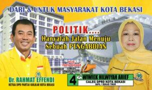 Wiwiek Hilwiyah Arief, Caleg Golkar DPRD Kota Bekasi 2014-2019 Dapil Bekasi 1, Bekasi Timur
