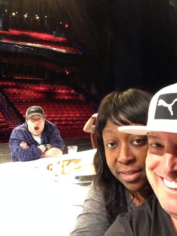 Me and @LoniLove first day MallCop2 rehearsals!!!! She's behind me. http://t.co/duIph4e6xE