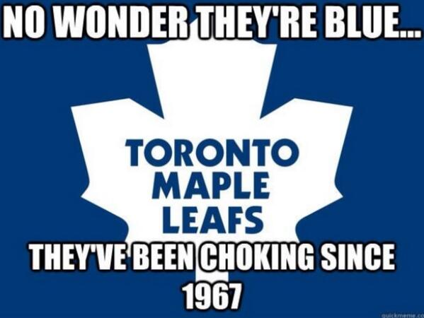 Happy Leafs elimination day! #since'67 http://t.co/XDcpG8T4XR