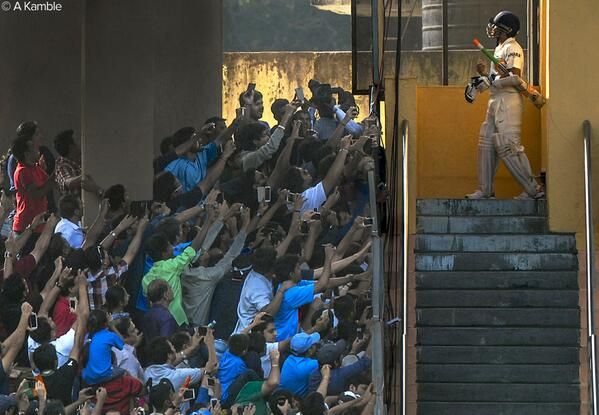 Amazing MCC Photo of the Year of Tendulkar about to go out for his final innings, like a renaissance painting. http://t.co/EmfRiOhFgY