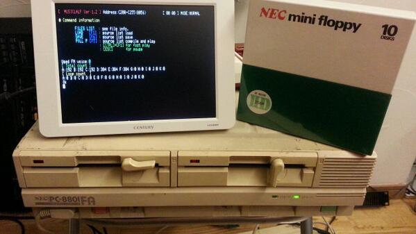 XP終了どころか此処は88FAがまだ現役(音源としてだけど)。ウイルスだって無縁だゼーット80! pic.twitter.com/KLL1p4s1JV