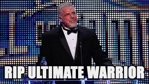 Sad News Tonight! Wrestling Icon/WWE Hall of Famer - The Ultimate Warrior passes away at the age of 54 #RIPWarrior http://t.co/WtaMojn3Mk