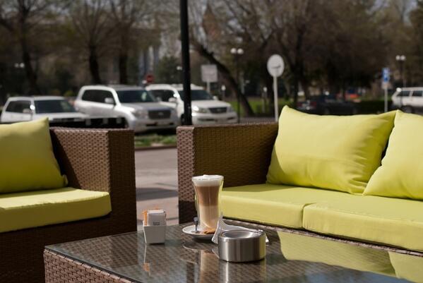 Time to enjoy the spring at Crostini terrace of Hyatt Regency Bishkek! http://t.co/INb007zbEr