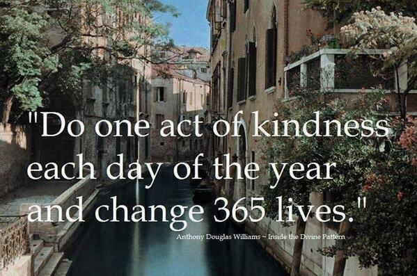 Do one act of kindness each day of the year... Create #PositiveRipples! :) http://t.co/odX7jhxDd8 http://t.co/GLLOrTrCfJ