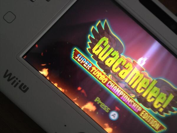 Yesterday we hit another major milestone in our Guacamelee port for Wii U. One step closer to release! YEAH! http://t.co/8ulUqDEVSP