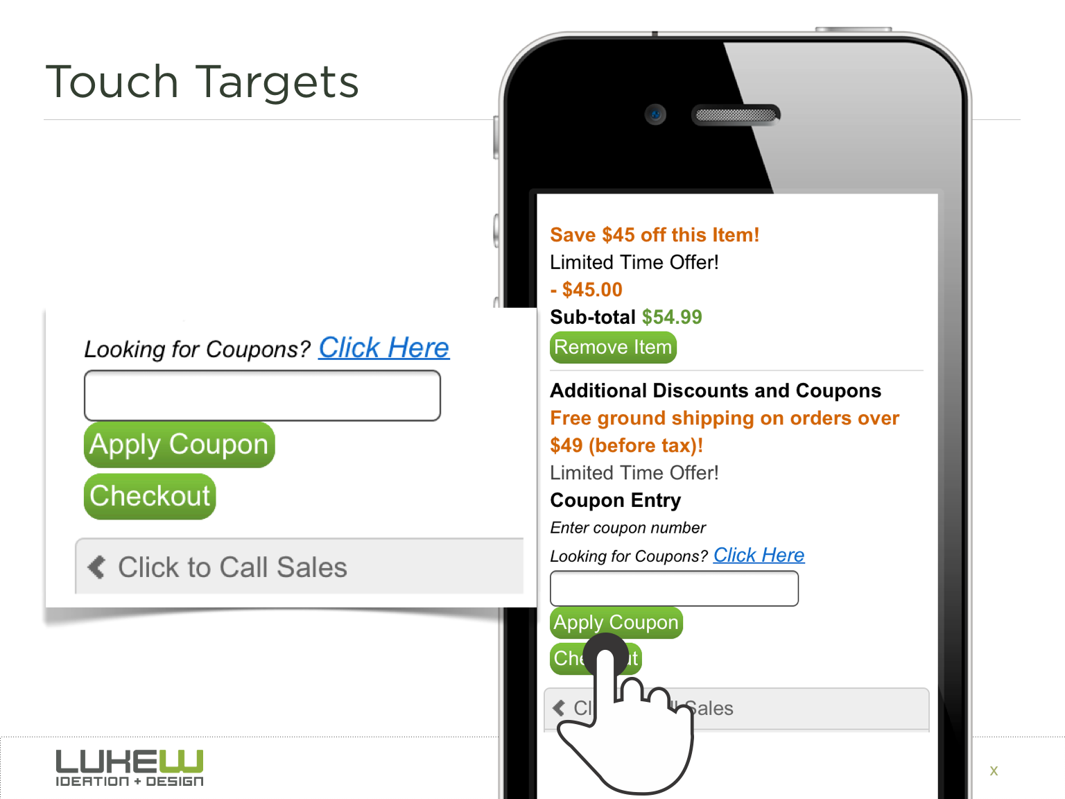 Twitter / lukew: Touch targets not only need ...