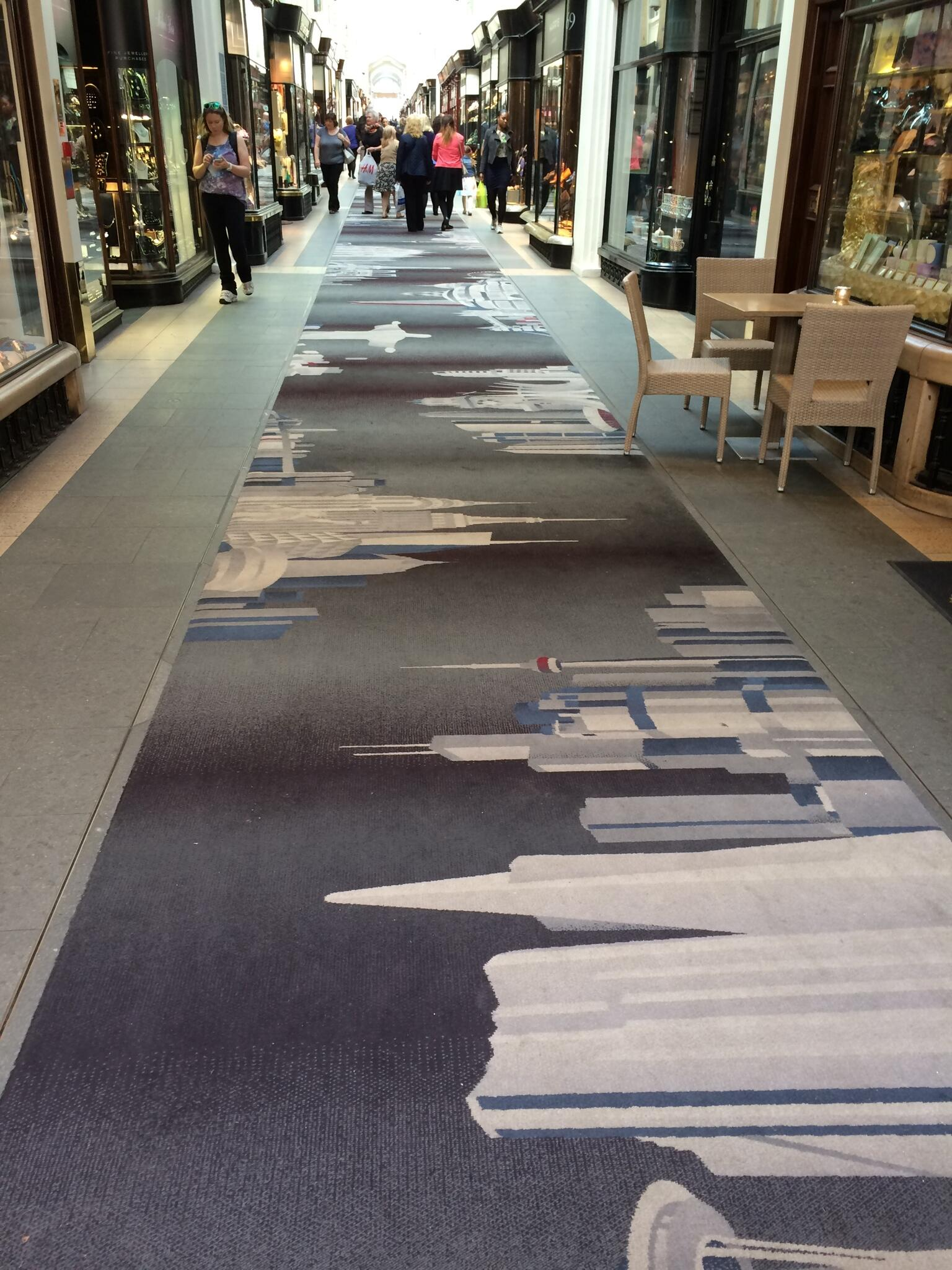 They've laid this carpet in Burlington Arcade. They might as well have laid a turd. I'm sorry, but what a desecration http://t.co/G0Ff00IFrV