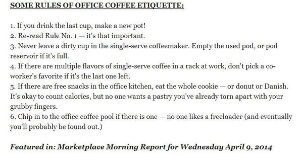 Office Coffee Maker Rules : Office Coffee Pot Rules - Bing images