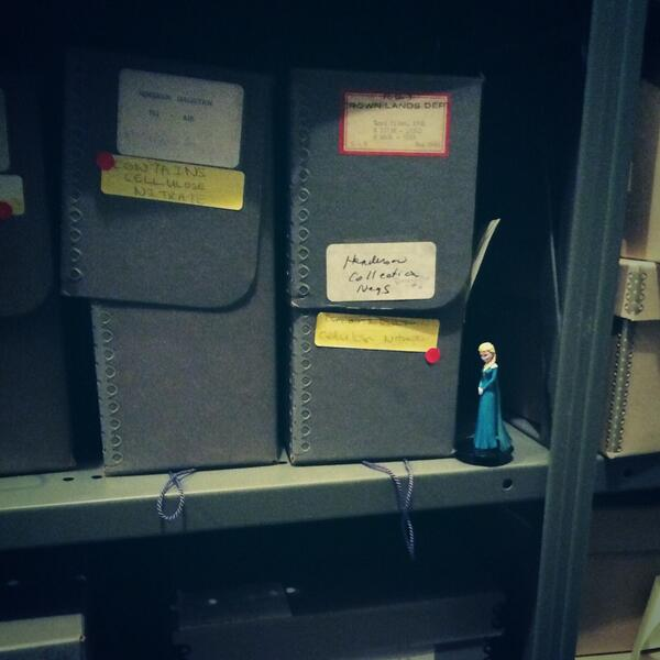 The cold never bothered us anyway #archiveshelfie #archivesawarenessweek #cellulosenitratenegs http://t.co/sSUWZ9OUvo