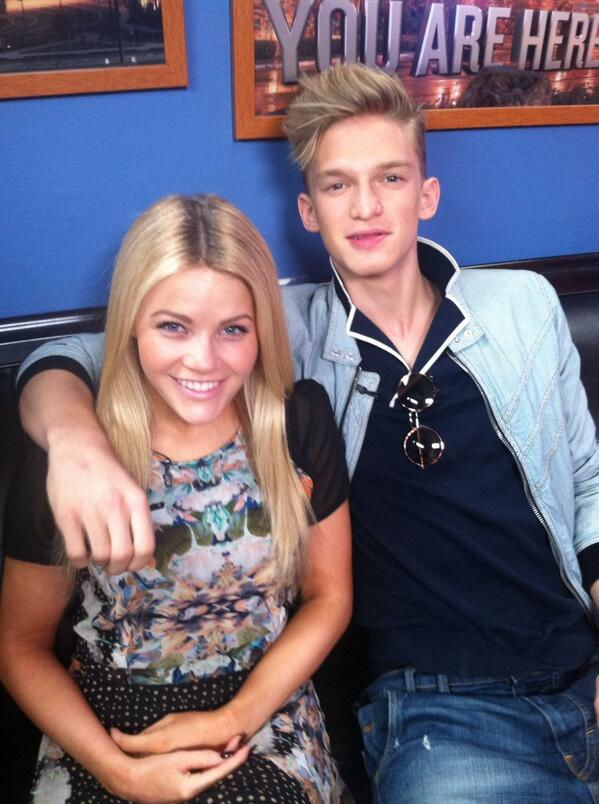 From #DWTS @CodySimpson & @WitneyCarson join us live on the @KTLAMorningNews in just a couple of minutes! #Surfboard http://t.co/X7ypzqUzwD