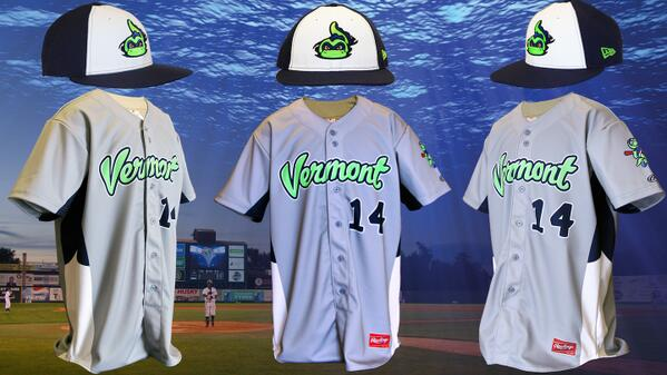 7d296d75b3310 The Vermont Lake Monsters have new road unis ...