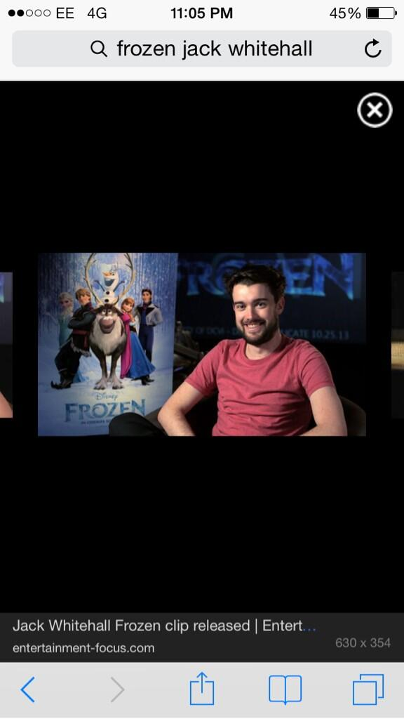 @jackwhitehall doing a press junket for his one liner in Frozen... #classic http://t.co/QXxBLYn2Om