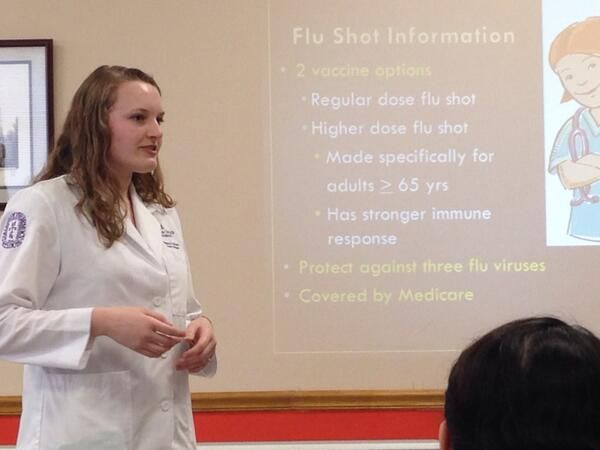 RT @atiemeier: @STLCOPedu student Melissa Berney talking about vaccines with senior residents at St. Agnes. http://t.co/SUIAHany6M