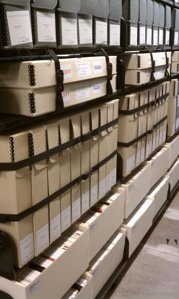 Preparing for earthquakes, one shelf belt at a time... #ArchiveShelfie #ArchivesAwarenessWeek @AskArchivists http://t.co/OaQHMPi2fZ