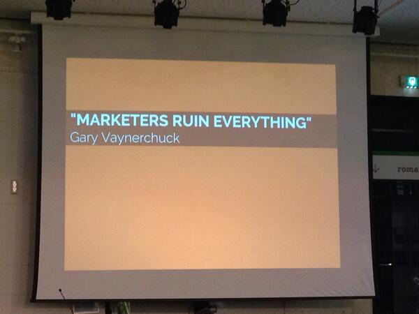 Marketeers ruin everything! #smc073 http://t.co/o7VFTcRnbz