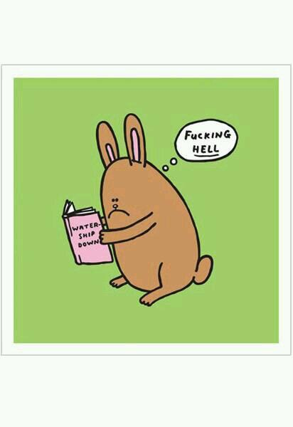 A rabbit reviews Watership Down. http://t.co/MWOY4o31g2