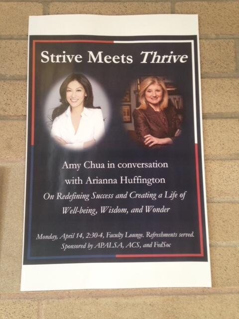 I'm excited to host Arianna Huffington at Yale on Mon, to discuss her new book THRIVE. @ariannahuff @HuffingtonPost http://t.co/OC3A5Y4nSI