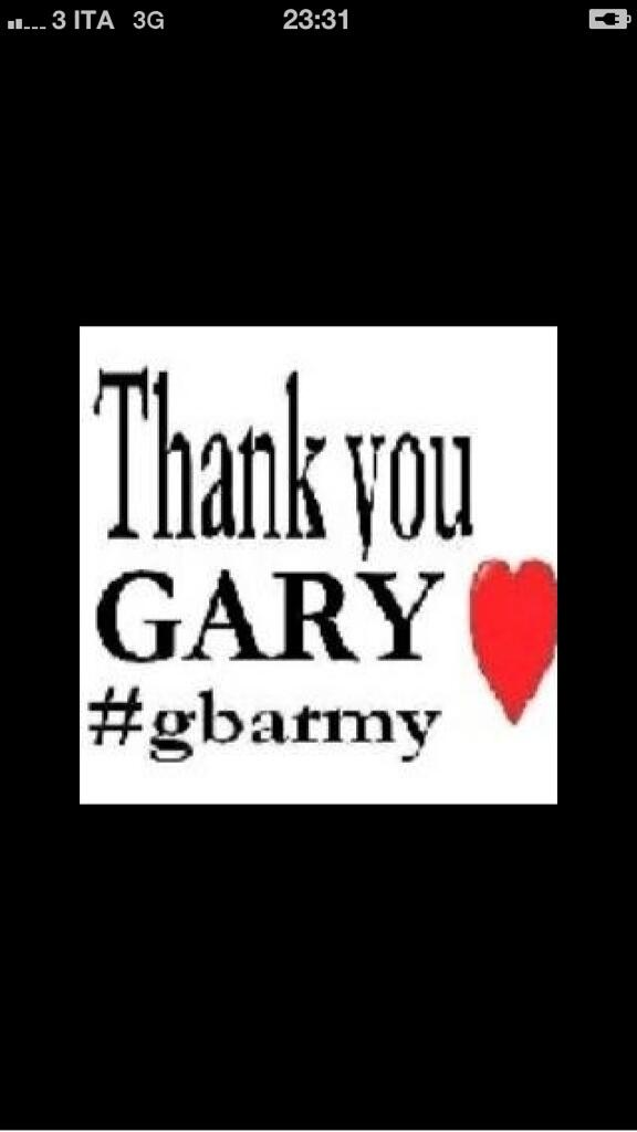 RT @santinagi: @GaryBarlow hellllooooo..#thankyougary #gbarmy we love u so much http://t.co/m3nas8fWnw