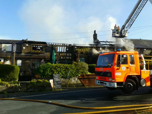 Chorleycitizen Dressers Arms And Little Hong Kong Restaurant Destroyed By Fire Pic Twitter Pozo3gfbim Keeds23 Andreakeedy23
