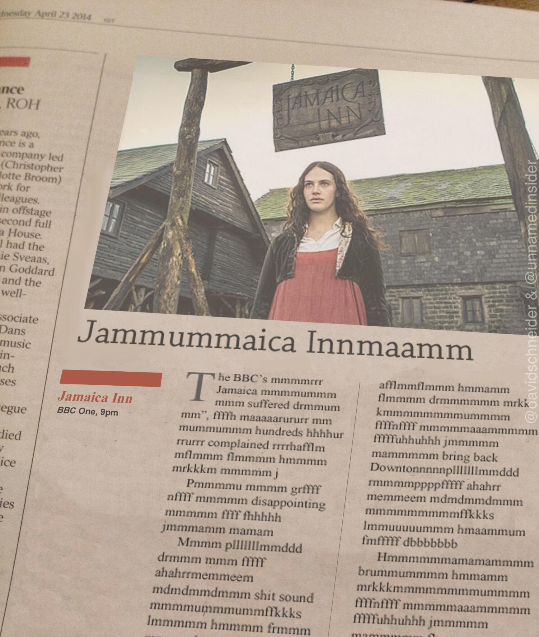 This review in the Times totally nails the technical problems of #JamaicaInn http://t.co/24y1kX6AfG