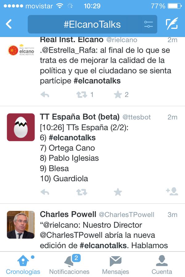 #elcanotalks sobre #transparencia ha sido TT. Enhorabuena @rielcano, Ivanosca López, @sllaudes @miguelgonzalo http://t.co/amZde4T4YU