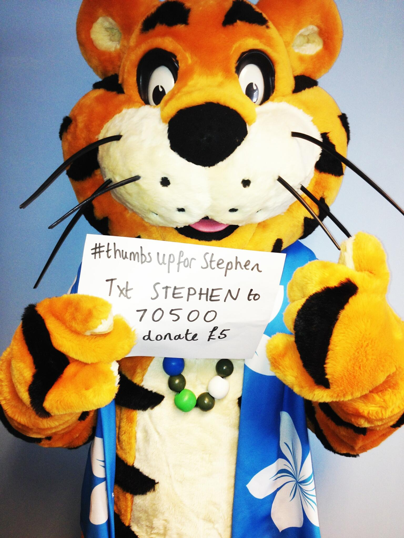 RT @haven: We've just donated to the amazing, brave and inspirational @_StephensStory #ThumbsUpForStephen http://t.co/XP9rDFQw8K