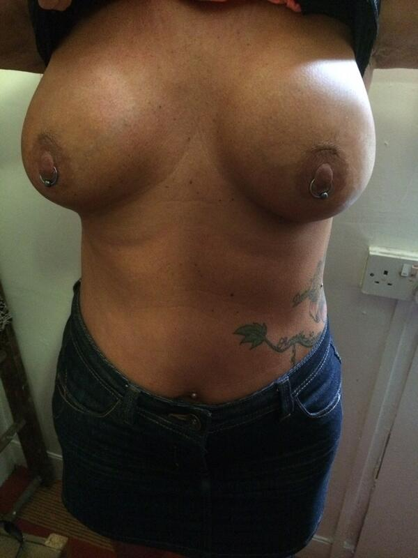 Amateur pierced nipples — photo 1