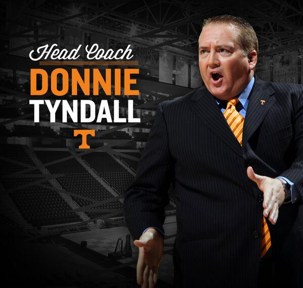 We're proud to announce that Donnie Tyndall will be introduced as Tennessee's 19th head coach today at 2 p.m. ET! http://t.co/VSbKGLFinf