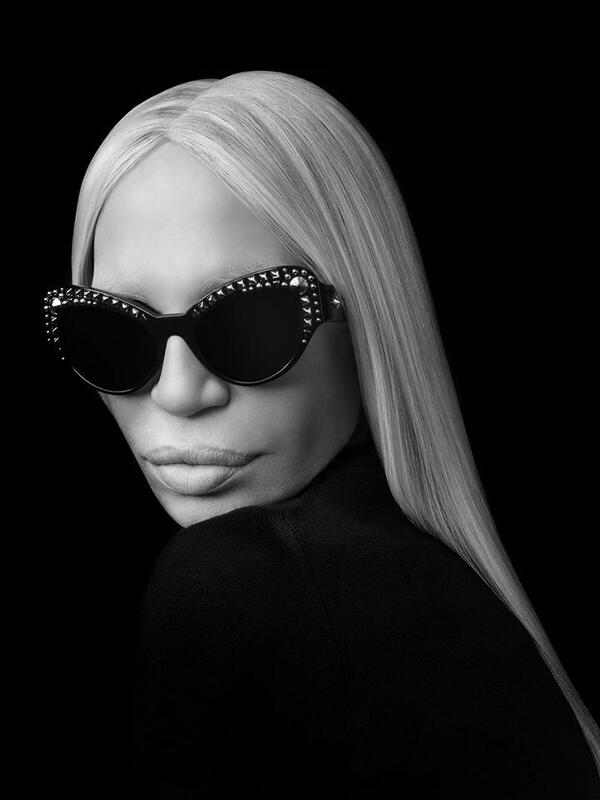 055f42d99a donatella versace with the new studsladies sunglasses from the new eyewear  collection photo by rahirezvani