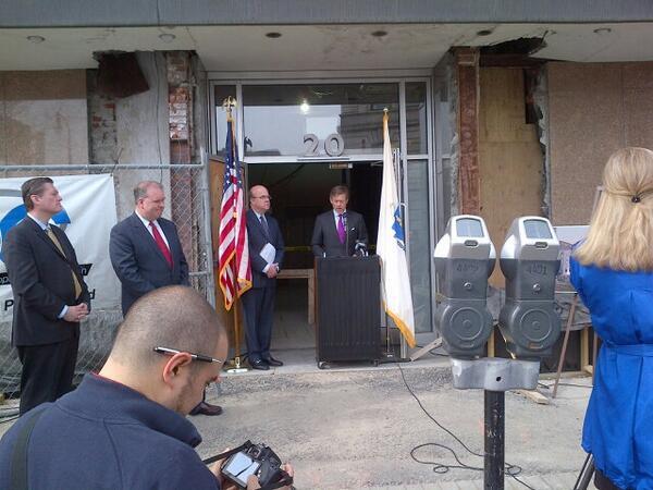 DAS Matt Erskine and Congressman Jim McGovern announce grant awards in Worcester, MA