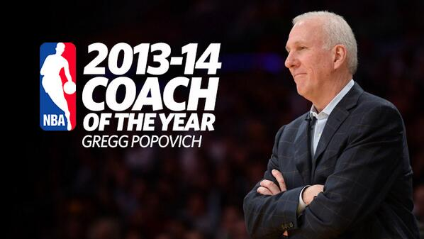Congrats from #kens5news MT @spurs: Coach Pop named 2013-14 NBA Coach of the Year! http://t.co/ocOo8IHrc2 #GoSpursGo http://t.co/JdpnIMoYid