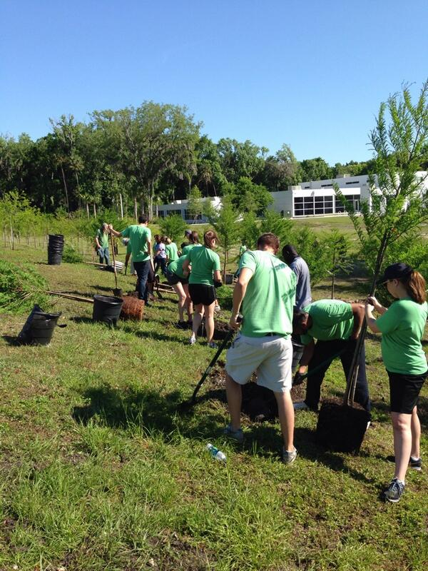 In honor of #EarthDay we're out planting 35 new trees at our local community center as part of #NASCARgreen! http://t.co/3YE6gIgeZn