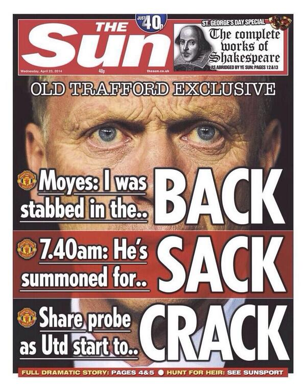 Brilliant front page in the UK Sun tomorrow. Credit where it is due. Respect to headline writers in all papers. http://t.co/C759Xs6BoS