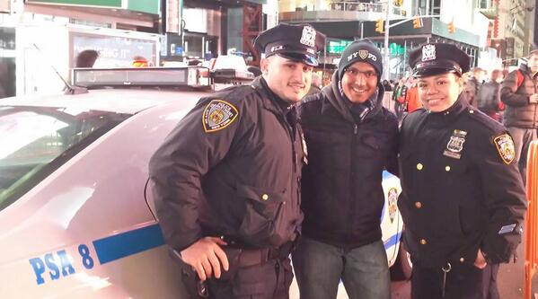 The NYPD's propoganda campaign backfired after sharing this photo with the #myNYPD hashtag
