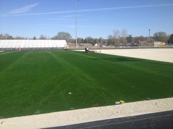 @DaytonDutchLion new pitch being installed! in 2,5 weeks we'll have Ruud Gullit kicking the ball here! http://t.co/cXpJCTMIzV