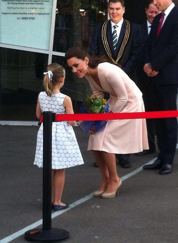 My gorgeous amazing neighbour with Duchess Kate #laurenstephenson #RoyalVisitAus http://t.co/ch6QWZRP2t