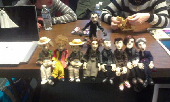 THE DOCTOR PUPPETS! Even cuter in person! (At SVA, waiting for panel with @TheDoctorPuppet @alisa_stern ) http://t.co/YzN0GvBsJR
