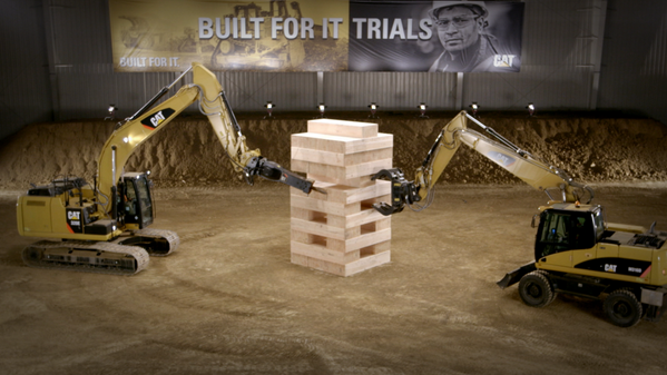 VIDEO: The world's largest #Jenga game played by Cat equipment: http://t.co/PxbVlcvJtV #BuiltForIt http://t.co/0KDo9FqZXE