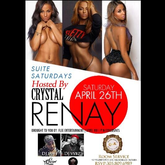 @crystalrenay_  hosting @RoomServiceMia Saturday April 26th w/ #thaProfessionalz 21and up http://t.co/MlnngTiUoj